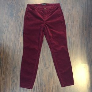 Talbots velour jegging pants women's size 10